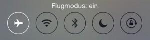Symbol Flugmodus iPhone